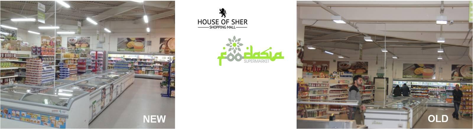 LED Distribution | Projects | Mall (Sher/Foodasia) | Glasgow, Scotland